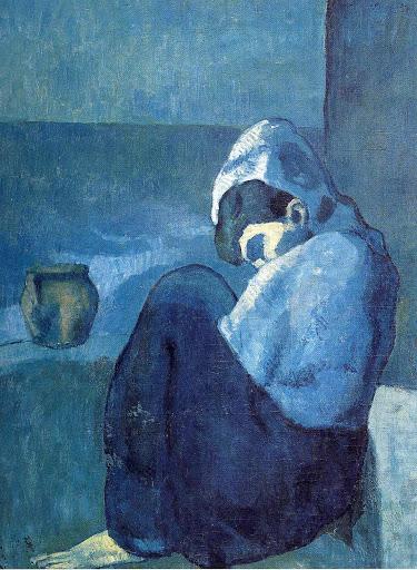 Пабло Пикассо. Женщина на корточках. 1902