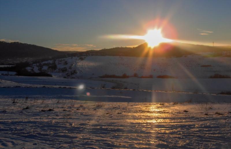 Закат у подножья Чатырдага