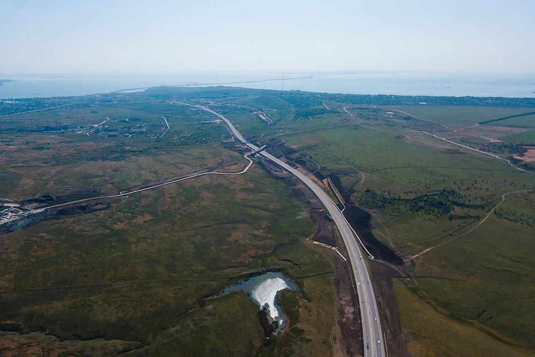 Вид на мост со стороны Крыма