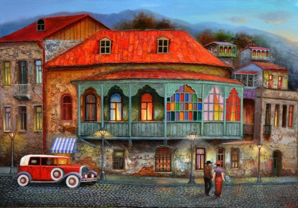 Ещё красок и света Грузии Мартиашвили, Давида, Грузия, работах, Давид, Зураб, художник, Вахтанг, Возможно, нижняя, работа, когото