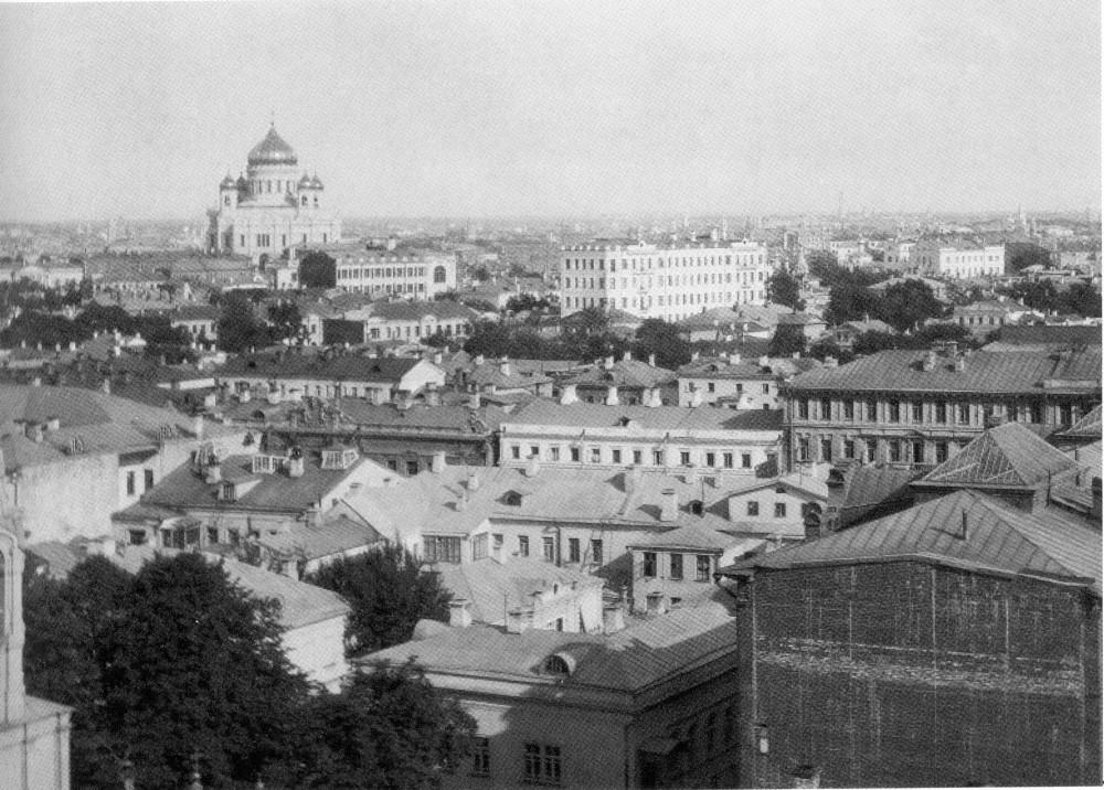 34351 Вид из дома на Спасопесковской площадке на юго-восток