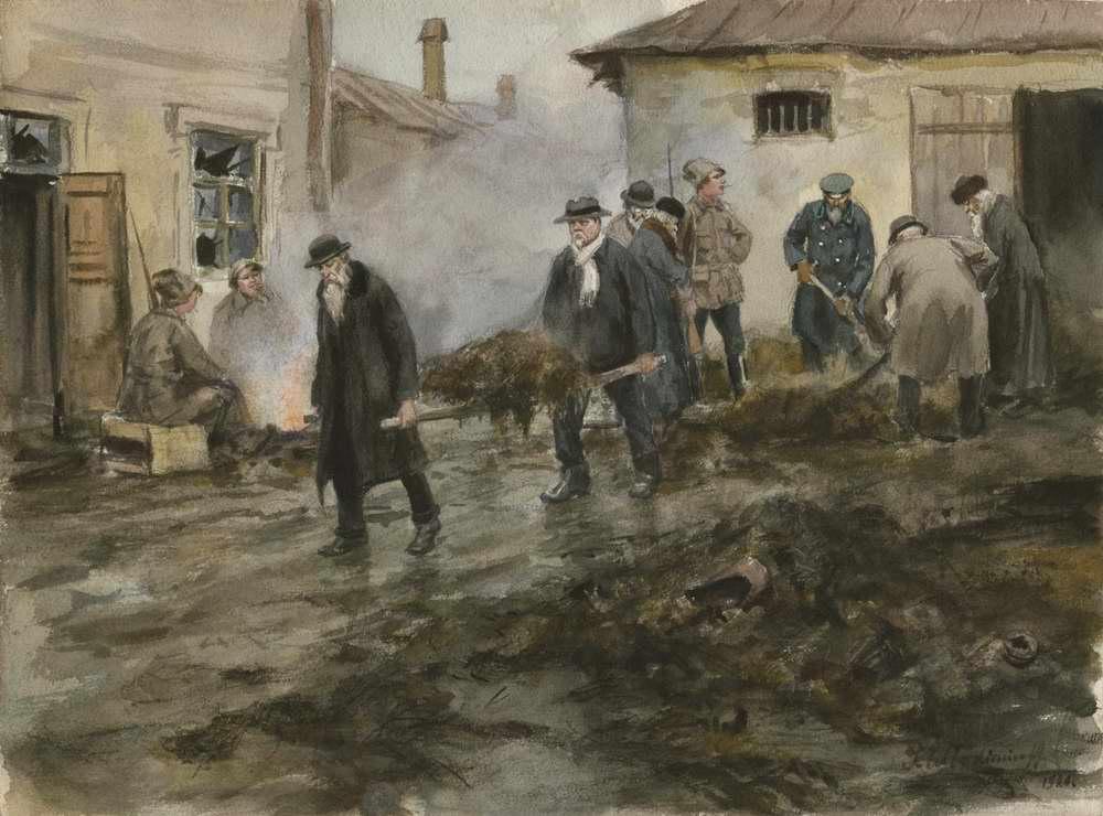 И. Владимиров. Буржуазия на трудовой повинности. 1920.