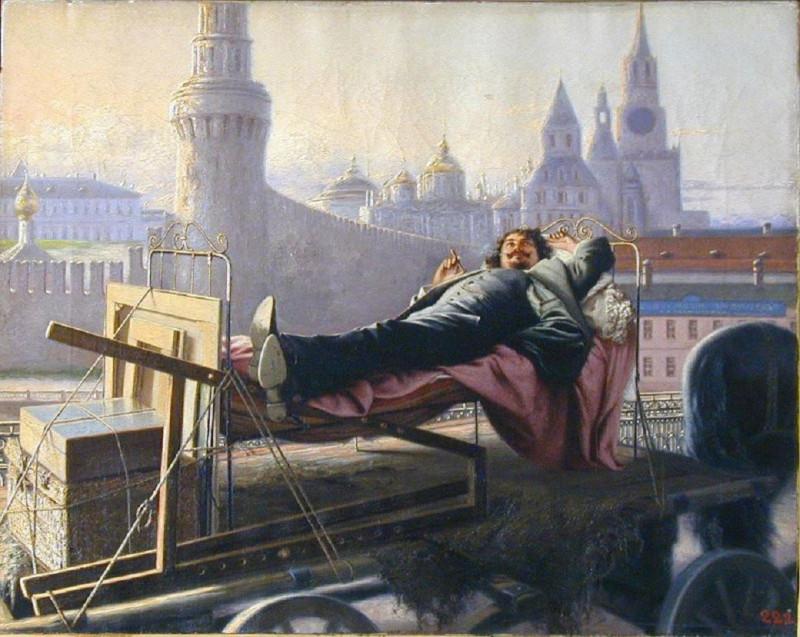 Яковлев Павел Ф 1899 Переезд художника на новую квартиру