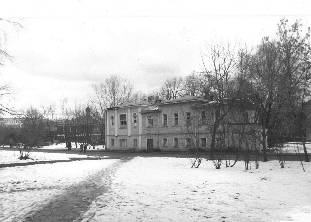 Дом Шаляпина в 3-м Зачатьевском переулке 1980х, котором, Фёдор, Иванович, 19041907, годах