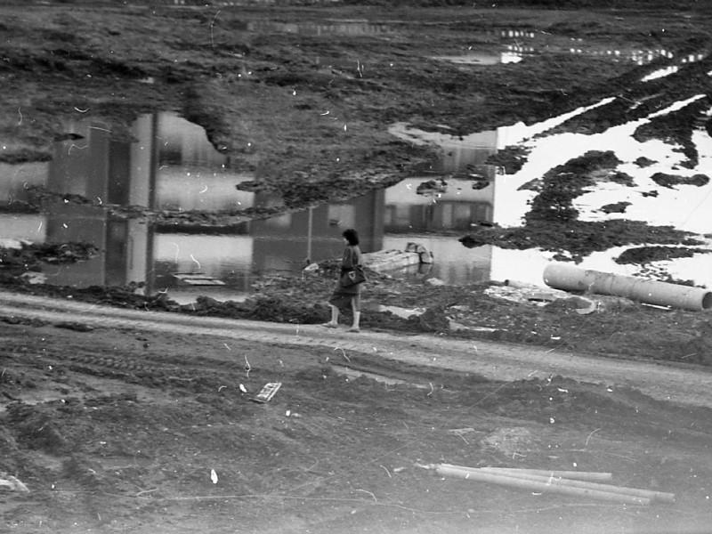 798370 Дорога к школе №2 во 2-ом микрорайоне сер 80-х Василий Гришин Шарыпово Краснояр. край