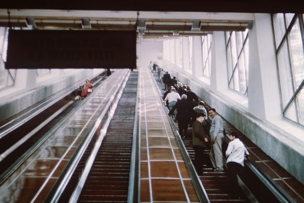 682009 Эскалатор на Ленинских горах