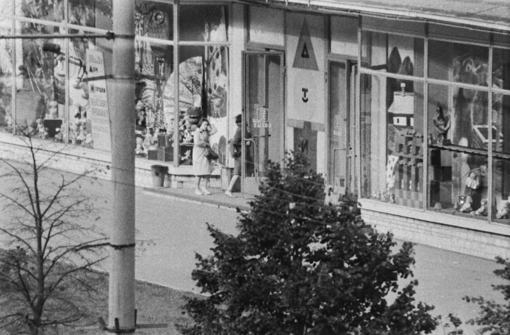 810186 Вид из окна дома №7 на магазин «Дом игрушки»