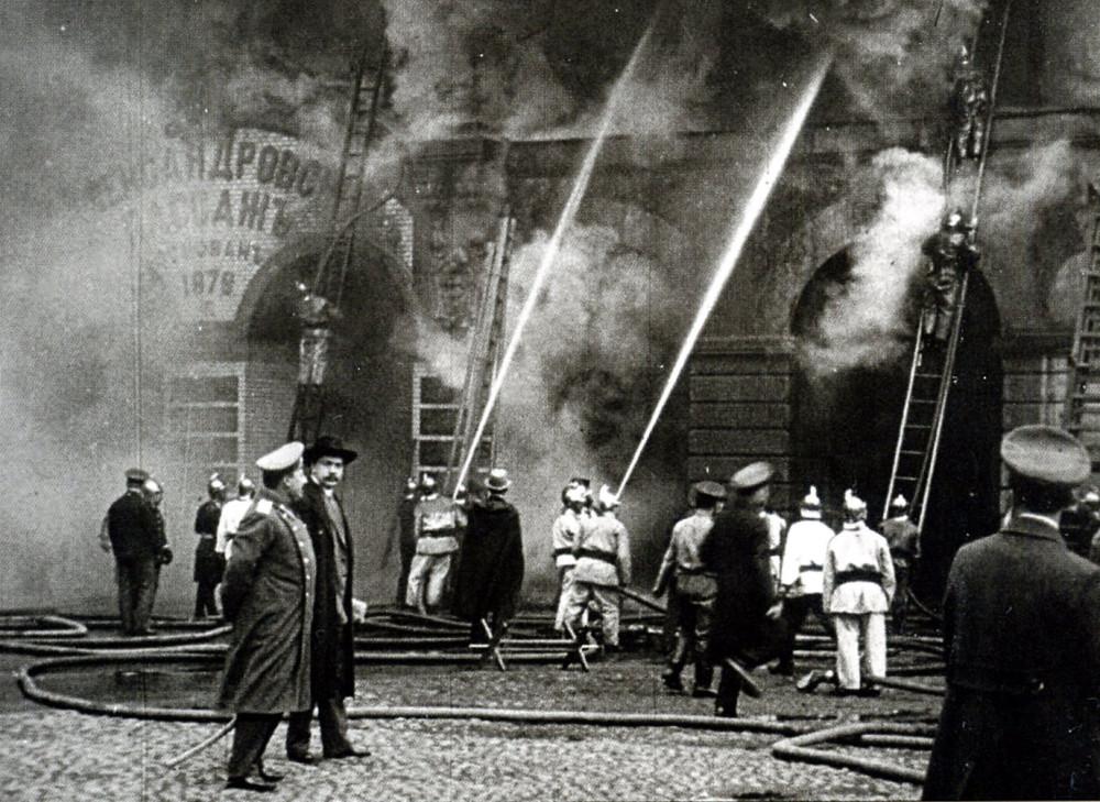 64520 Пожар Александровского пассажа и Малого театра