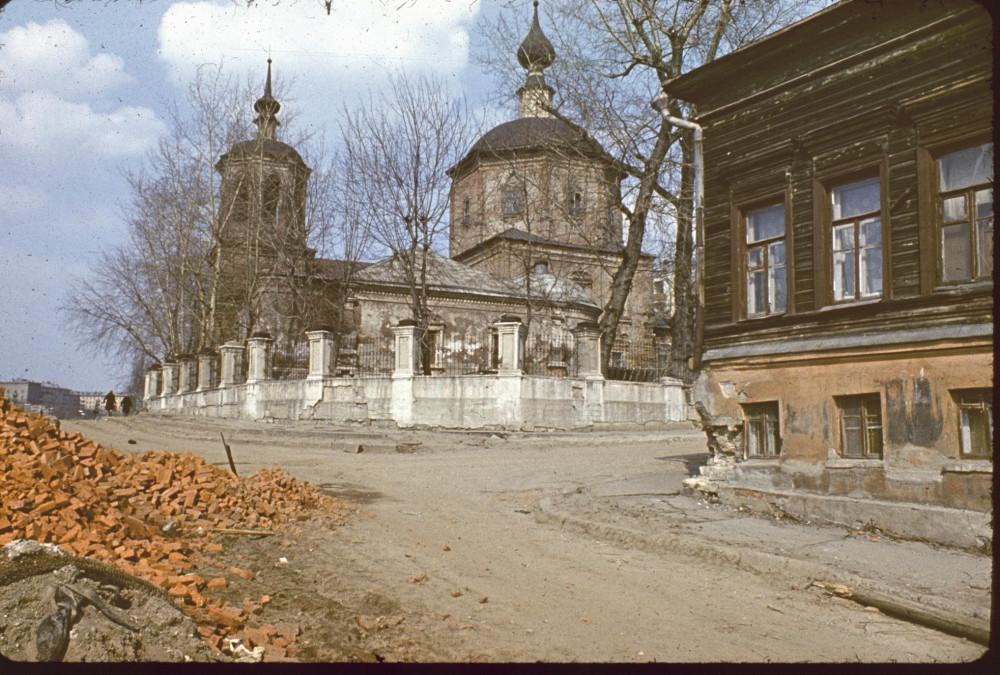 Церковь Троицы в Троицкой слободе слобода, Троицкая, уничтоженная, Тутунова, 1970х
