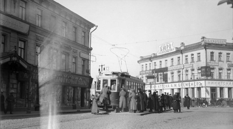 Трамвай у Никитских Ворот