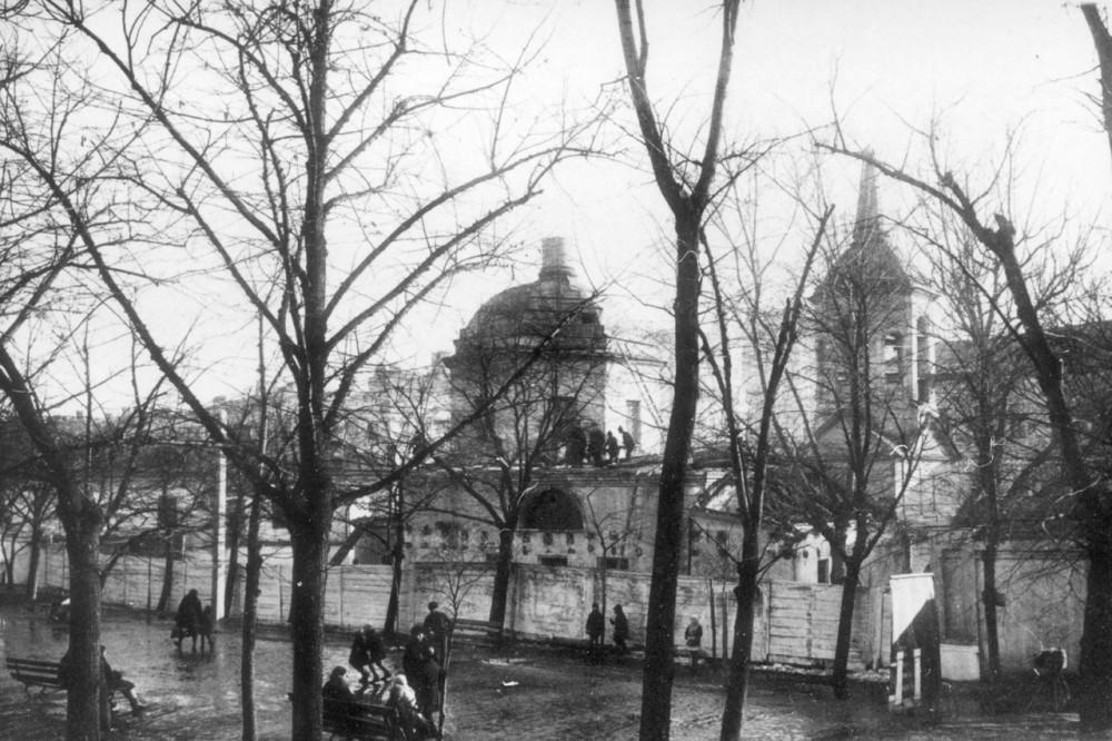 14070 Церковь Сошествия Святого Духа у Пречистенских ворот. Вид со стороны Гоголевского бульвара