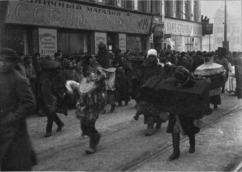 1107707 Антирелигиозный комсомольский агитационный карнавал 23