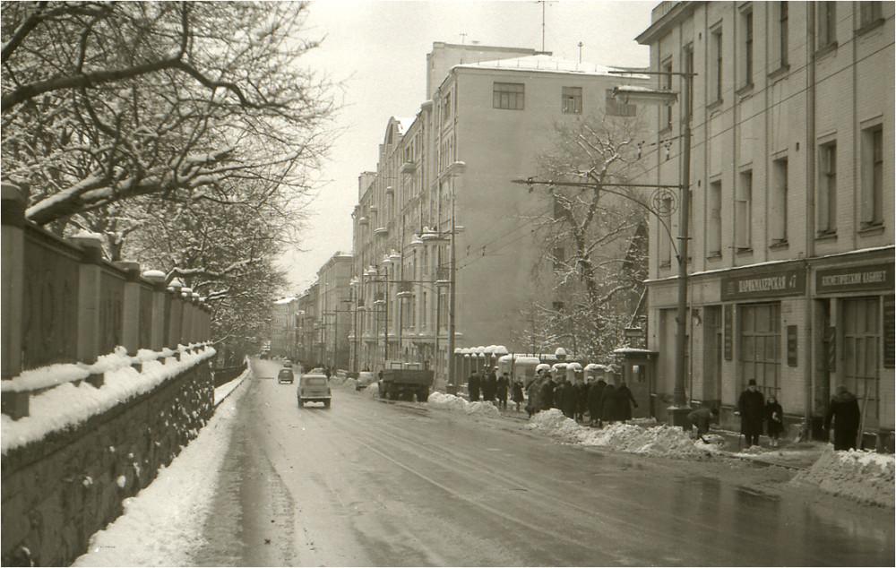 Москва. Гоголевский бульвар. 1961 год.