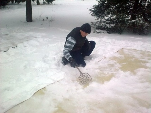 Ковер на снегу 1