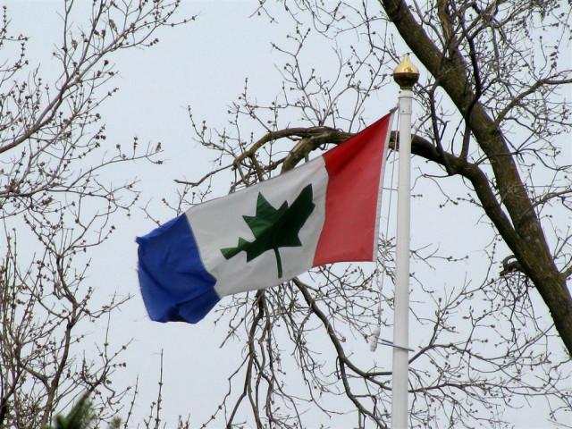 Неожиданный вариант канадского флага