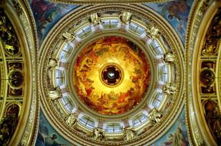 Исакиевский собор, купол изнутри.