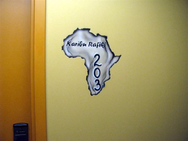 А это собственно дверь в наш номер