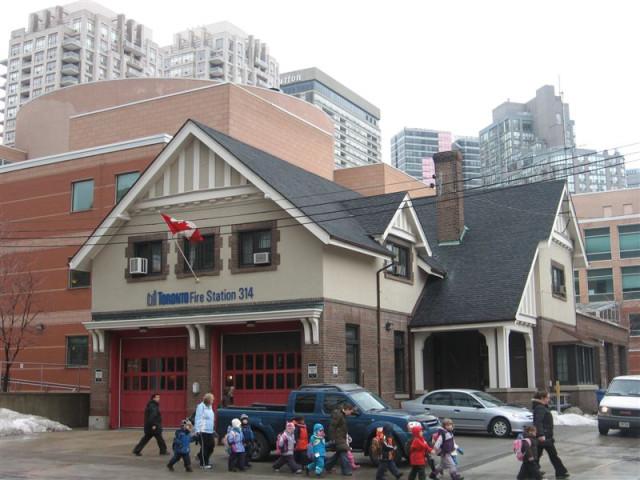 Пожарная станция рядом с Янг