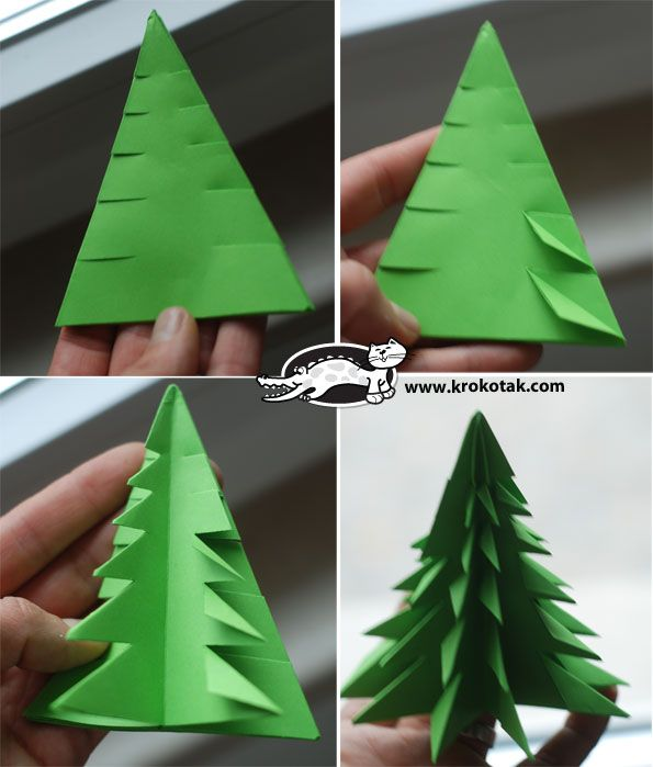 Как сделать елку  бумаги видео