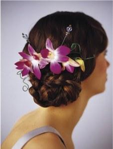 1цветы волосы