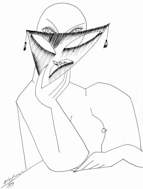 Дама в маске.