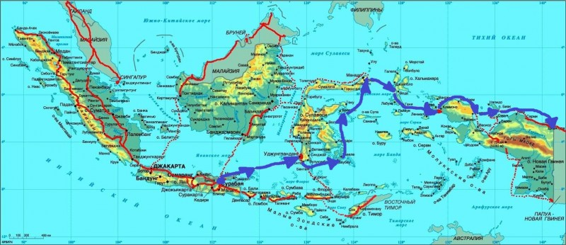 Карта Индон-09