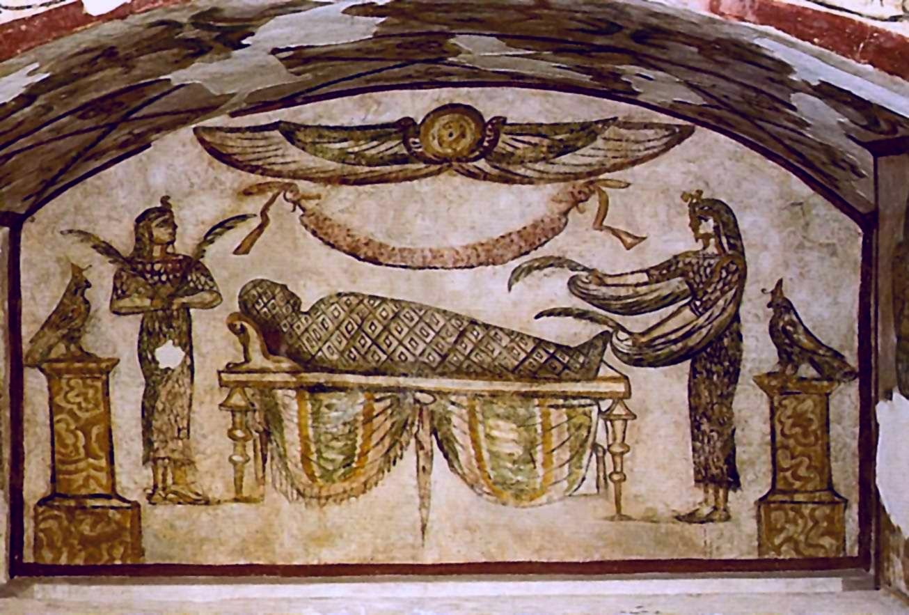 Погребальная камера  Тиграна-паши  Вероятно, 1 век н.э. Александрия (Ком эш-Шукафа)