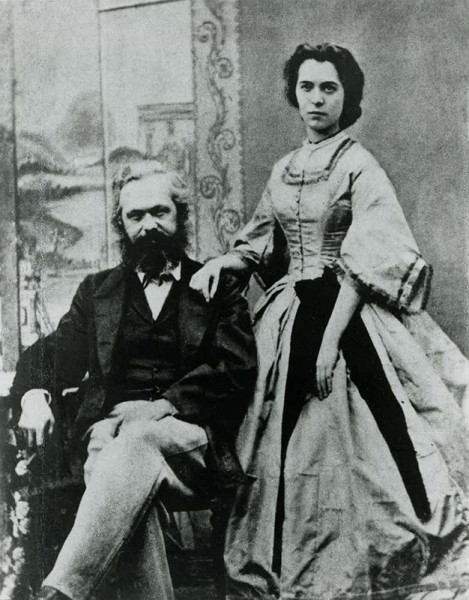 Карл Маркс с женой Женни Маркс