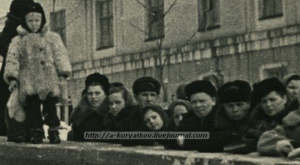 Митинг у Почтамта 1953 г. Сталин.