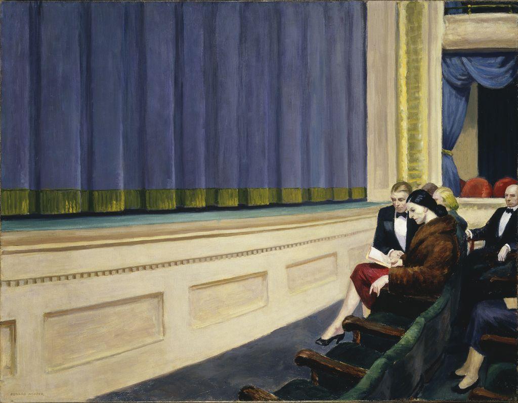Эдвард Хопер Edward Hopper Первый ряд в театре.