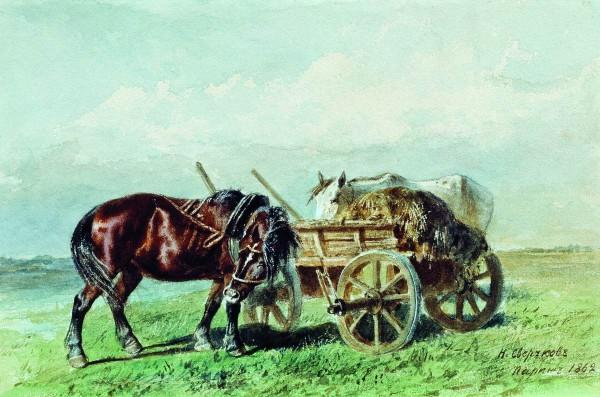 Сверчков николай Лошади в поле