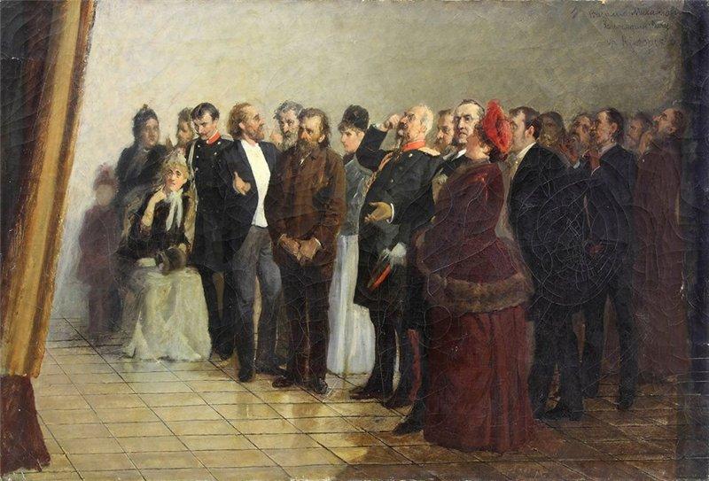 Загорский Николай Петрович. Перед картиной. 1894. Собрание ЯХМ