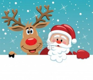 Санта и Рудольф