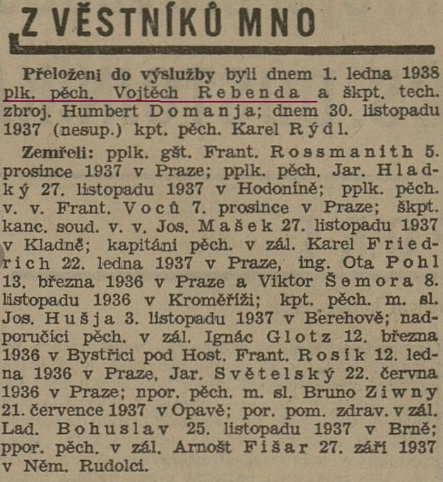 Rebenda 1938-1