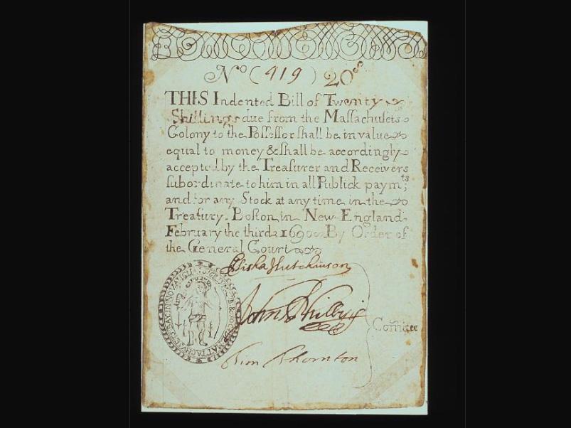 20 Shilling, Massachusetts, 1690
