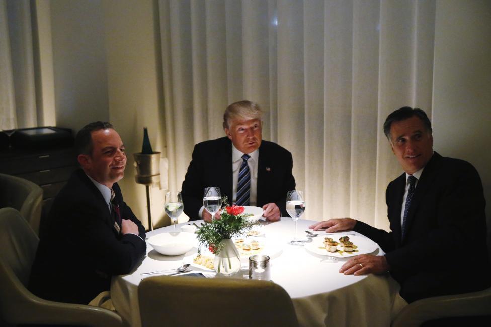 Trump Dinner Romney