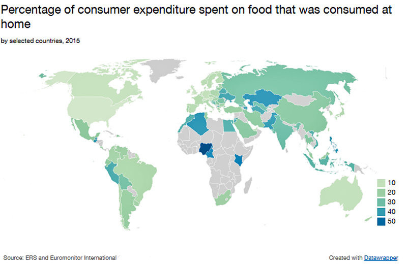 Food Spend map 2015
