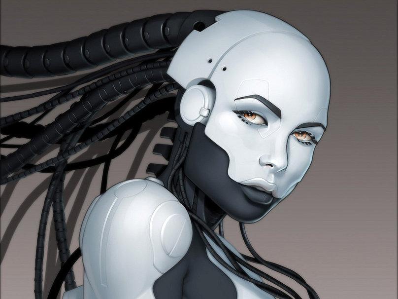 Lawer robot girl