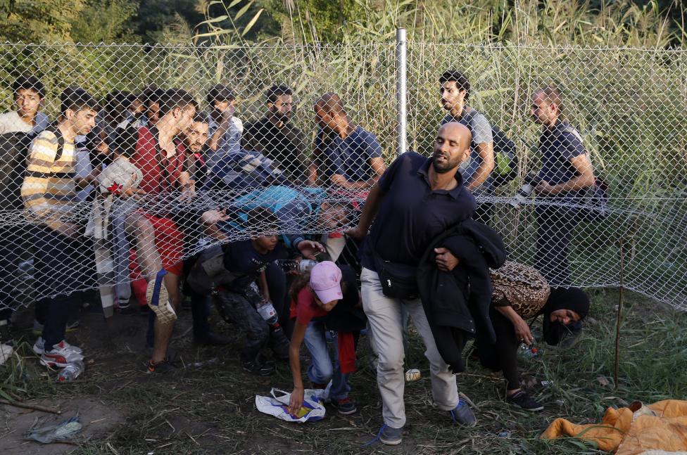 Migrants on Border
