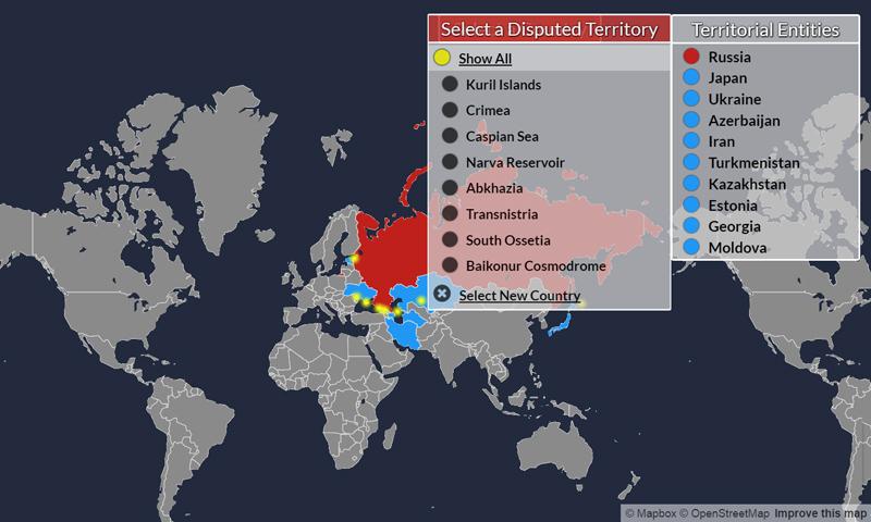 Territories disputed Russia