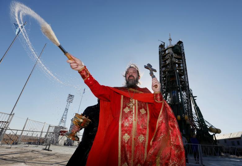 Soyuz MS-04 launchpad