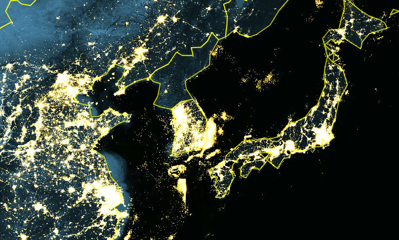 lightsnight NASA koreas