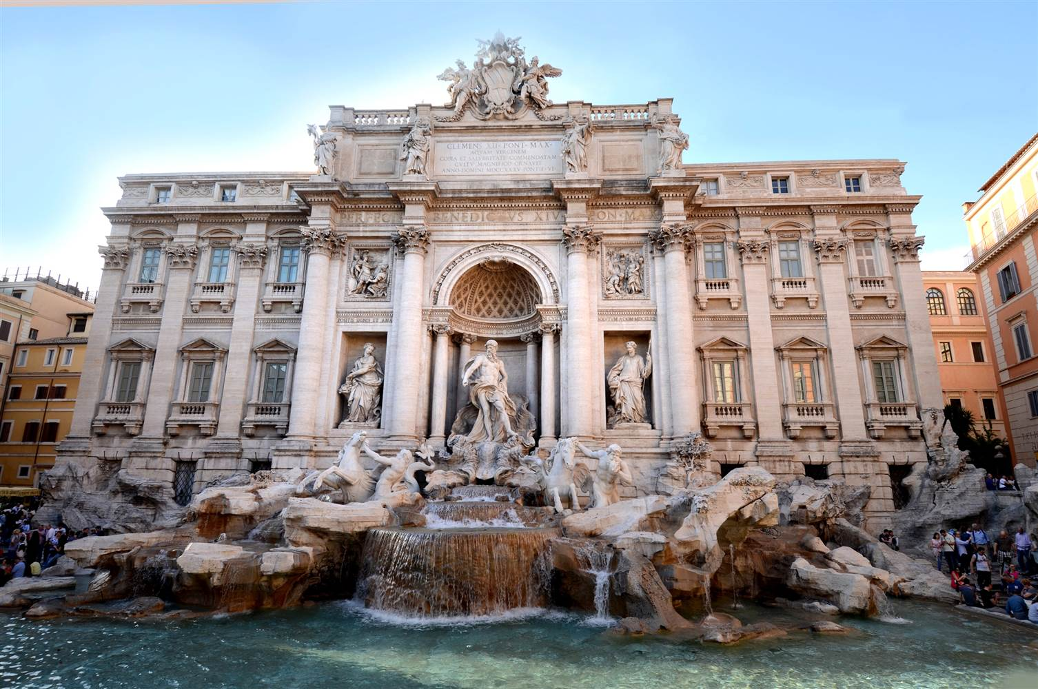 Trevi fountain coins