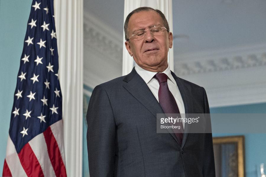 Lavrov US Flag