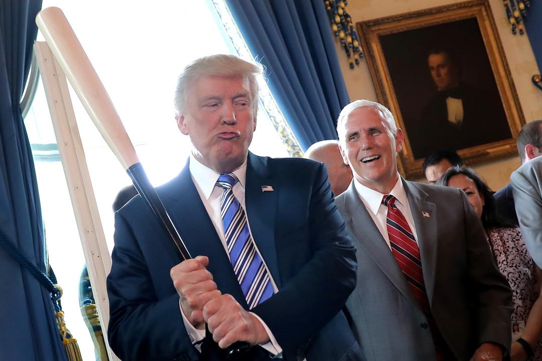 Trump-Baseball