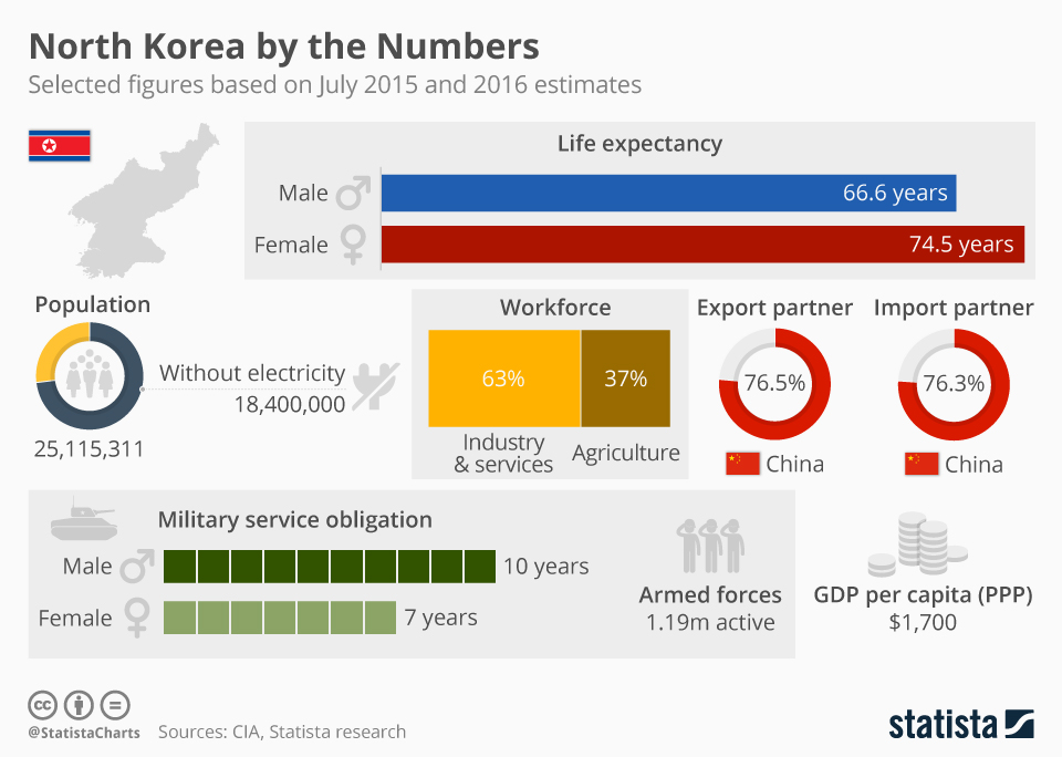 North korea by the numbers