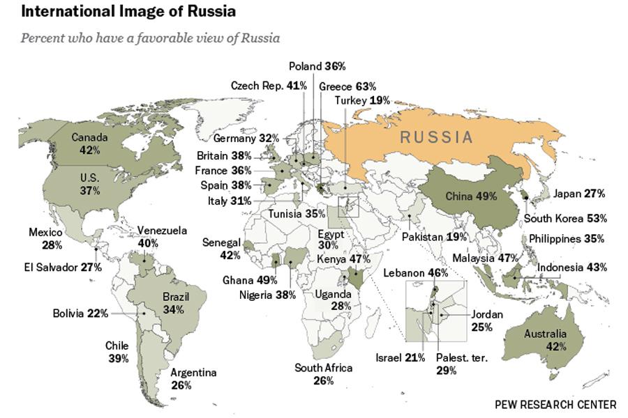 Russia-Favorability-Map