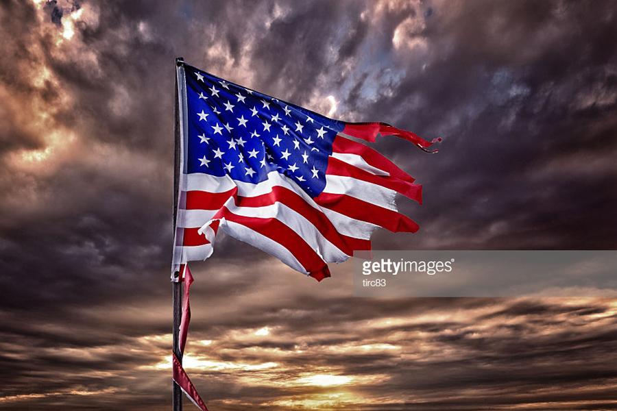 Damaged-US-Flag