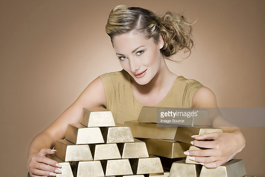 Gold-Bar-Woman