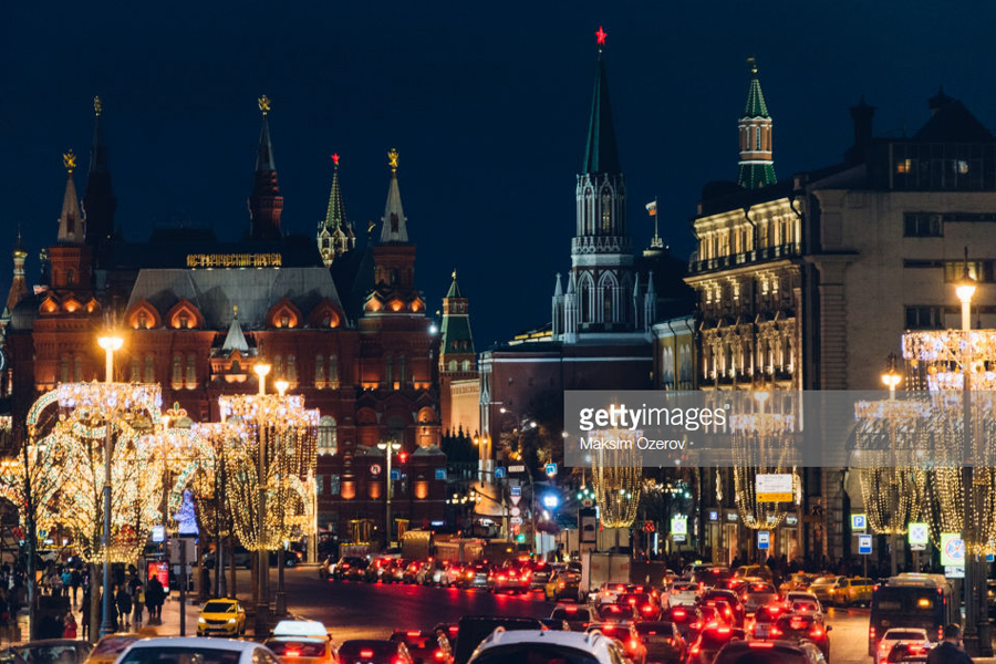 traffic in Moscow centre